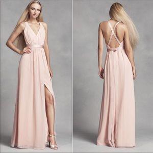 """""""White"""" by Vera Wang blush pink dress"""